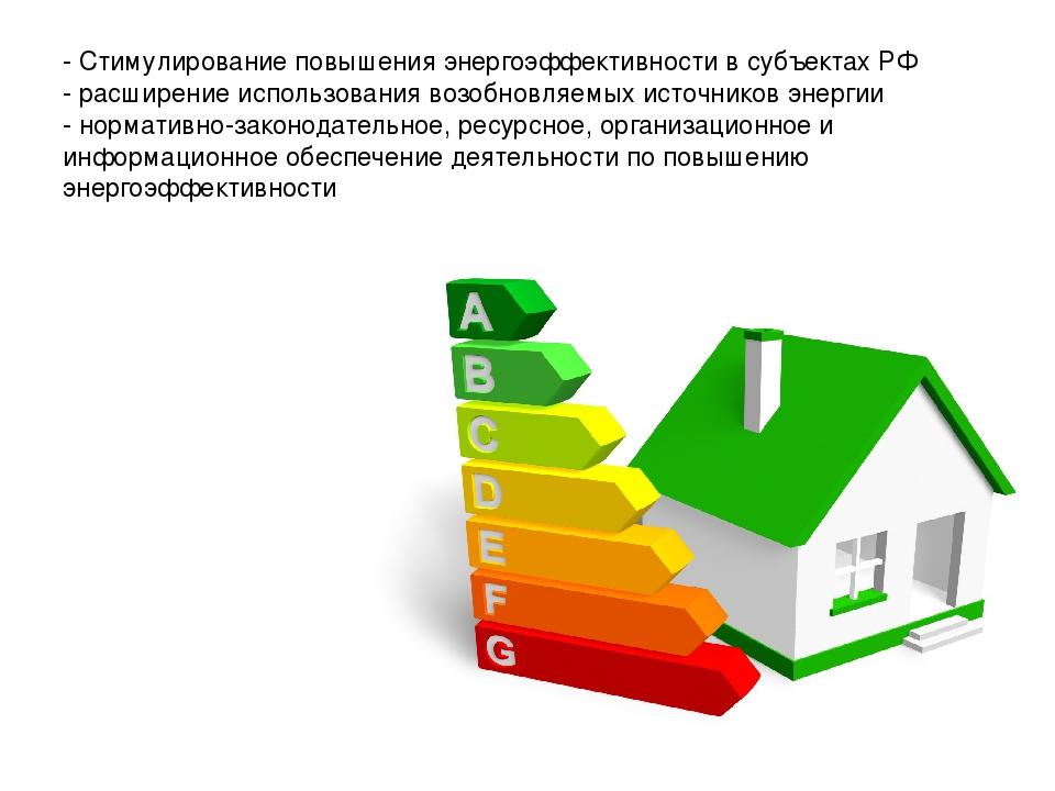 Прогресс в области регулирования для содействия повышению энергоэффективности